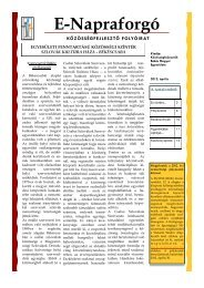E-Napraforgó - Közösségfejlesztők Békés Megyei Egyesülete ...
