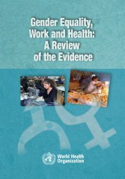 Gender equality, work and health - World Health Organization