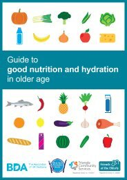 Guide to good nutrition and hydration in older age