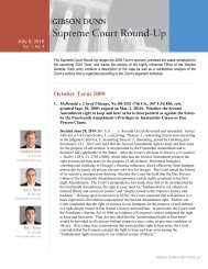 October Term 2009 - Gibson, Dunn & Crutcher LLP