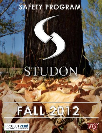 FALL 2012 - STUDON Electric & Controls Inc.