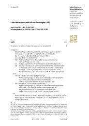 Liste der technischen Baubestimmungen (LTB) - Architektenkammer ...