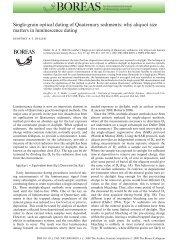 Single-grain optical dating of Quaternary sediments: why aliquot ...