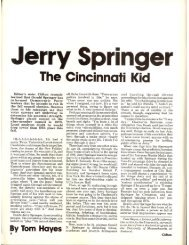 Jerry Springer: The Cincinnati Kid - University of Cincinnati Libraries