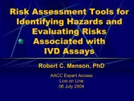 Risk Assessment Tools for Identifying Hazards and Evaluating Risks ...