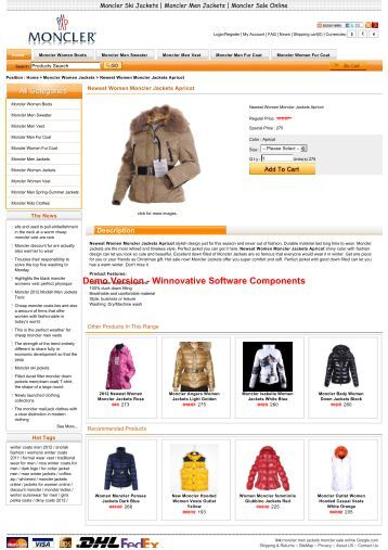 There are Newest Women Moncler Jackets Apricot moncler ...