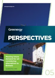 PERSPECTIVES Meeting future demand for oil - Greenergy