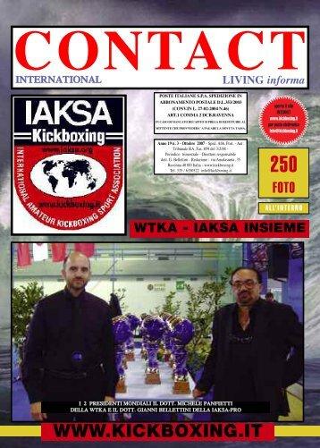 kick boxing magazine - IAKSA Italia