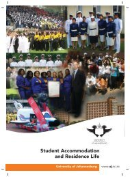 STUDENT ACCOMM A5 BROCH 09ch - University of Johannesburg