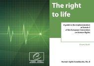 The right to life - Cour Européenne des Droits de l'Homme