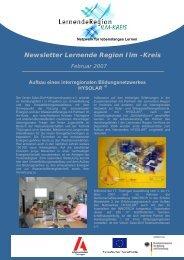Newsletter Lernende Region Ilm -Kreis Februar 2007 - EUROlocal