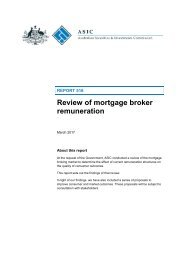 Review of mortgage broker remuneration