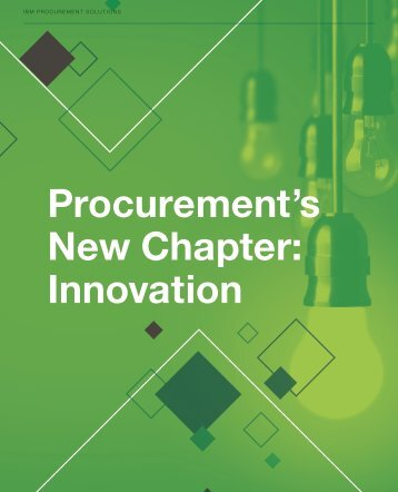 Procurement's New Chapter Innovation