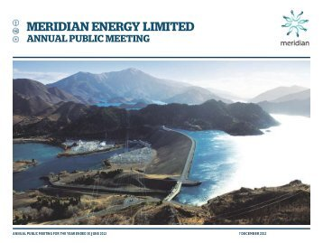 Annual Public Meeting Presentation - Meridian Energy