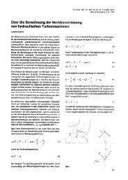 Über die Berechnung der Meridianströmung von hydraulischen ...