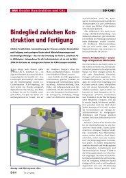 Bindeglied zwischen Kon- struktion und Fertigung