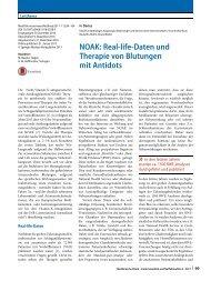 05 NOAK Real life Daten und Therapie von Blutungen mit Antidots
