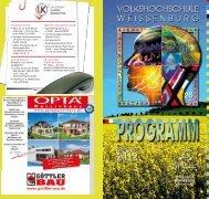 Jetzt online anmelden unter www.vhs ... - VHS Weißenburg