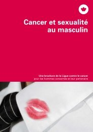Brochure - Cancer et sexualité au masculin - Krebsliga Schweiz