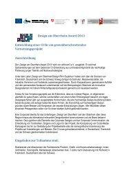 Design am Oberrhein-Award 2013 Entwicklung einer CI für ein ...