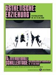FESTIVALZEITUNG NR. 03 / 22.06.2009 - Schillertage