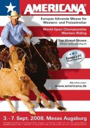 und Freizeitreiter 3. - 7. Sept. 2008, Messe Augsburg