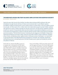 THE NEW NATO-RUSSIA MILITARY BALANCE IMPLICATIONS FOR EUROPEAN SECURITY