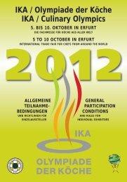 IKA / Olympiade der Köche IKA / Culinary Olympics ALLGEMEINE ...