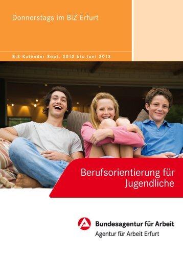 """Flyer """"Donnerstags im BiZ"""" - Bundesagentur für Arbeit"""