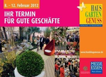 H HAUS GARTEN GENUSS - Haus und Garten | Messe Essen GmbH