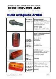 Preise freibleibend exkl. MWSt 07/09