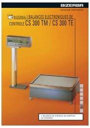 CONTROLE CS 300 TM / CS 300 TE