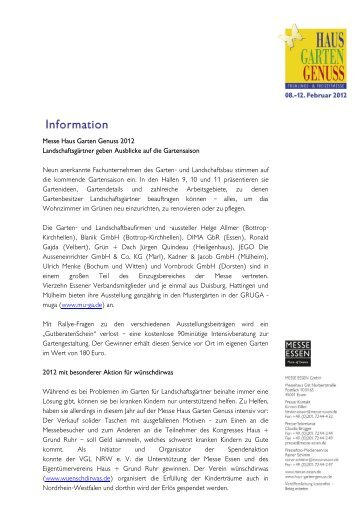 Messe Haus Garten Genuss 2012 Landschaftsgärtner geben ...
