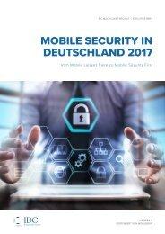 IDC Executive Brief: Mobile Security in Deutschland 2017 - MobileIron