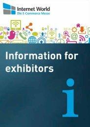 Information for exhibitors - Internet World