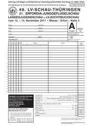 49. lv-schau-thüringen - Sonderverein der Zwerg-Italiener-Züchter