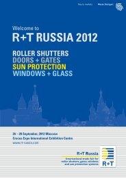 R+T Russia 2012 – Exhibitor Brochure
