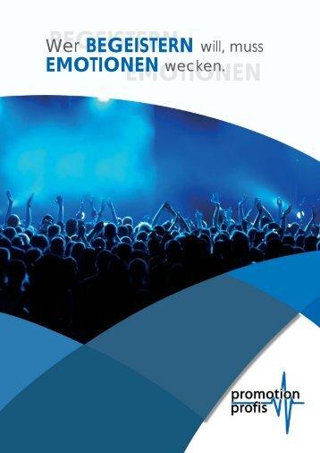 BEGEISTERN EMOTIONEN - Promotion Profis