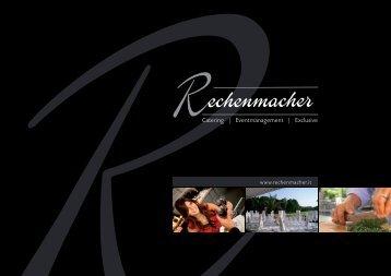 Catering   Eventmanagement   Exclusive - rechenmacher.it