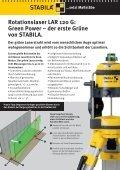 Rotationslaser LAR 120 G: Green Power - Stabila - Seite 2