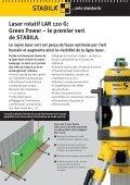 Laser rotatif LAR 120 G: Green Power - Stabila - Page 2