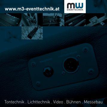 kommen Sie zum brandneuen Imagefolder - M3-Eventtechnik