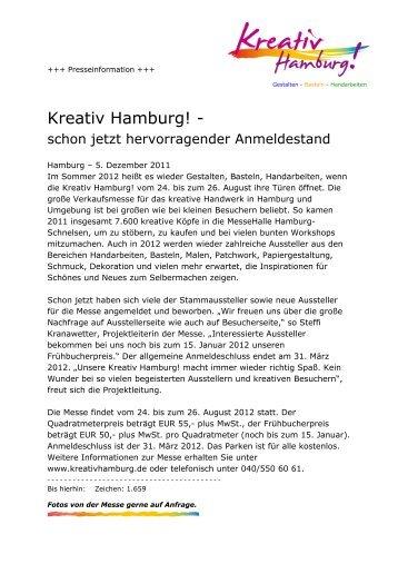 01.2012 Presseinfo - Kreativ Hamburg
