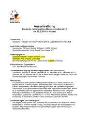 Ausschreibung - Kassel Marathon