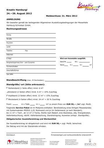 Kreativ Hamburg! 24.—26. August 2012