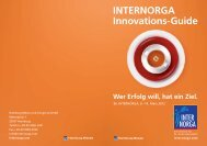 INTERNORGA Innovations-Guide Wer Erfolg will ... - Hamburg Messe