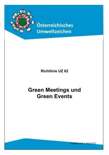 Umweltzeichen Richtlinie - Green Meetings - Das Österreichische ...