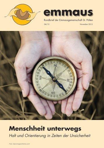 Rundbrief der Emmausgemeinschaft - Ausgabe 04|15