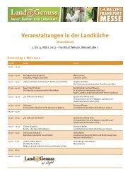 Veranstaltungen in der Landküche - Land & Genuss
