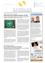 Kehrtwende: jetzt schnellerer Wechsel in die PKV ... - Stadler Makler